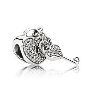 NWOT pandora lock of love silver charm
